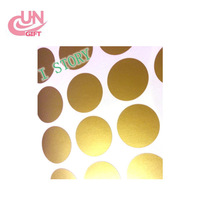 High Quality Gold Dot Art Stickers Children Room Personality Decoration Wall Stickers