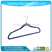 Wholesale Black Velvet Hanger Dresses/Suits Hangers With Notches Anti-slip