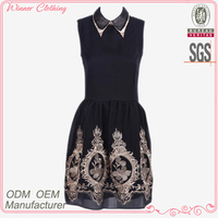 Retro fashion vintage style slim girls party dresses