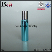 8ml 10ml 15ml empty blue cosmetic plastic roller ball lip bottle lip balm roller bottle container