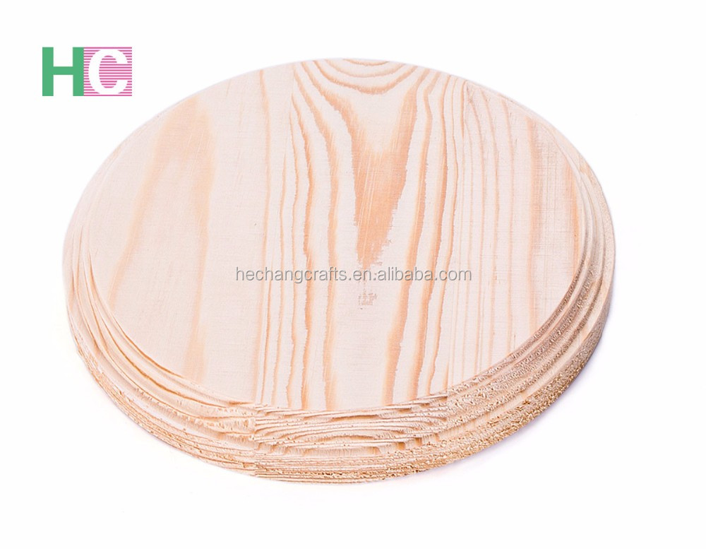 2016 Handcraft Unfinished Round Wooden Serving Plate