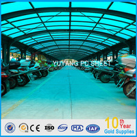 top sale blue solid polycarbonate capony awning