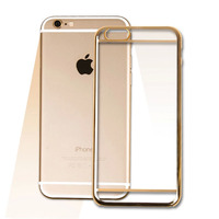 For iPhone 6 Plating Bumper Soft TPU Back Panel Case Clear