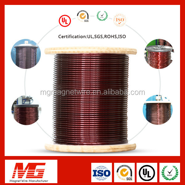 Drawing and coating 0.55mm round enamelled winding electrical aluminum wire