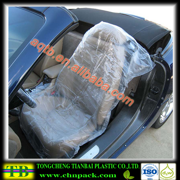 Automotive clear plastic disposable car seat cover