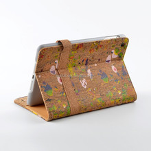 2015 Novelty Shockproof Waterproof Plastic Belt Clip Cork Case for Apple iPad Mini