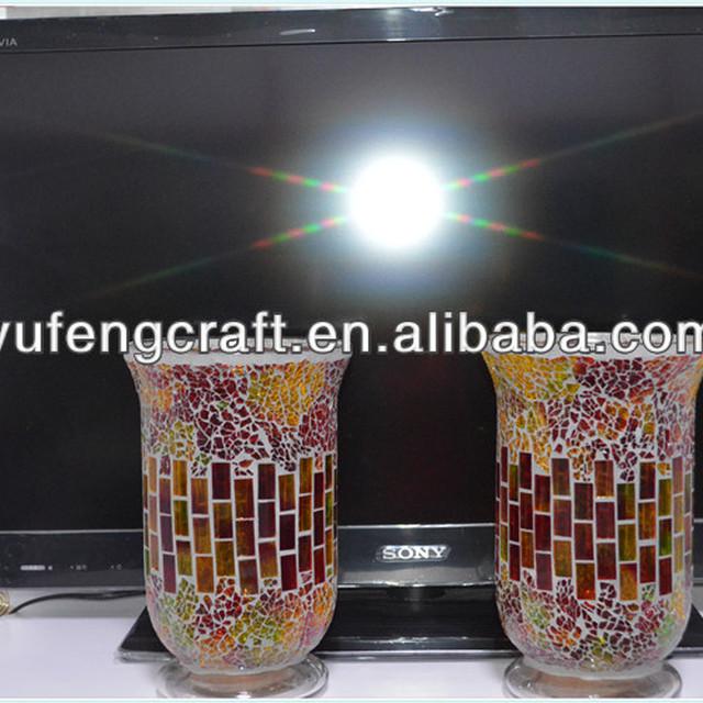60cm Tall Glass Mosaic Vaseyuanwenjun