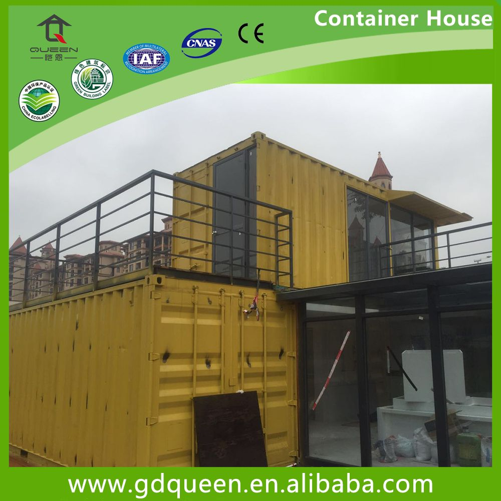 2 story prefab modern residential container house