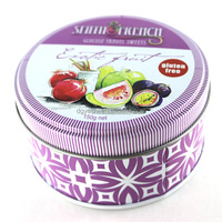 Round fruit tin box candy nut packaging tin can metal almond container