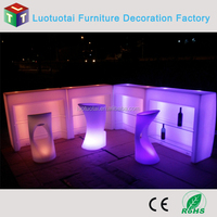 Plastic Rechargeable Illuminated Hotel Club Plastic LED Bar Counter