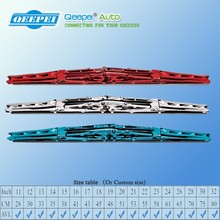 Chromed Double wiper blades Double Layer Rubber Strips Colored Wipers