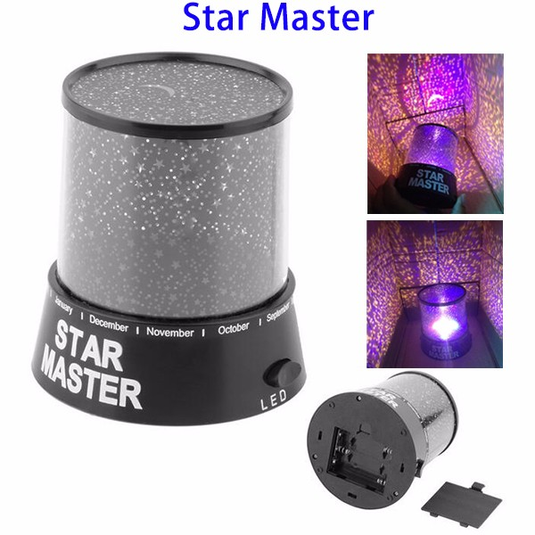 Christmas Decor Gift Star Master LED USB Battery Operated Night Sky Star Ceiling Baby Night Light Projector