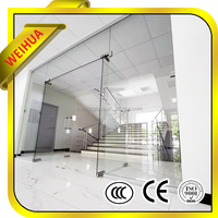 10mm flat glass door canopy for for residential and commercial properties
