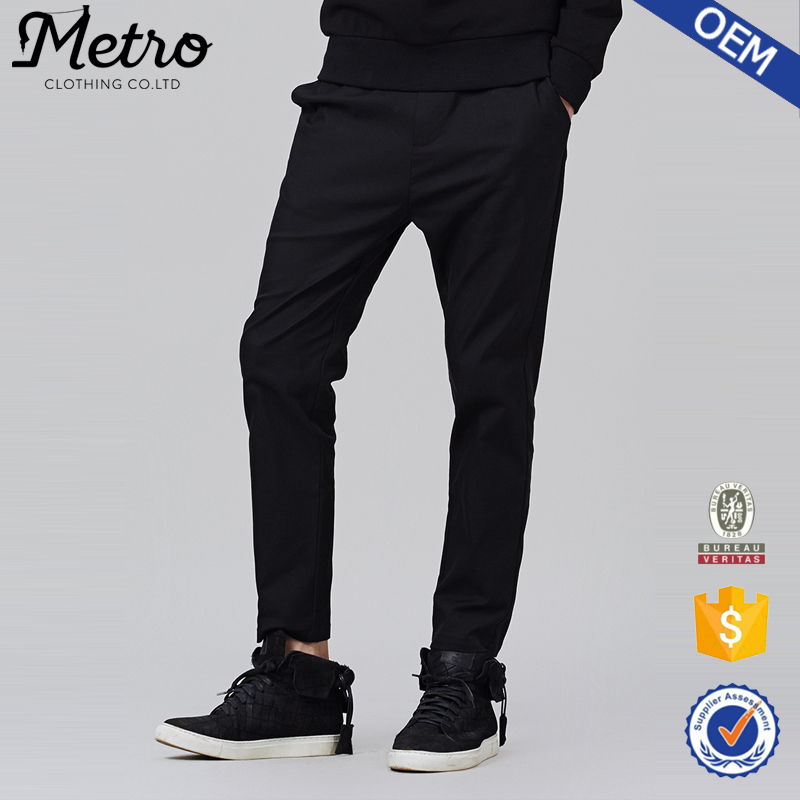 2015 OEM Latest Style Men Pants, Cheap Blank Black Pants