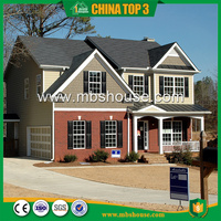 Most Popular/ Hot sale/ Simple Luxury Prefab Light Steel Villa/Residential villa (Q550) sold to South Africa