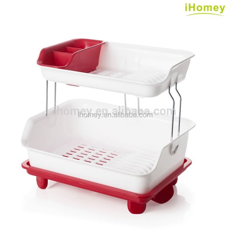 Plastic cheap dishwasher kitchen dinner plate dish drying rack