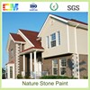 Natural stone wall painitngs UV proof anti fire waterbased rough texture spray paint