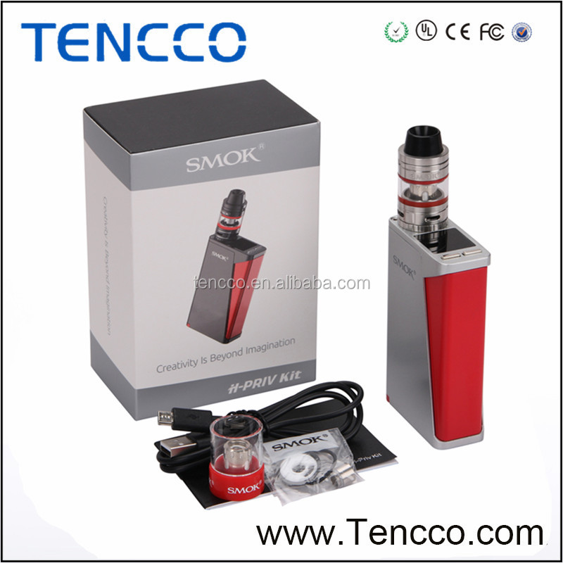 TENCCO Wholesale Newest SMOK 220W H-Priv TC Full Kit with Smok HPriv TC Mod Box Electronic Cigarette Kit