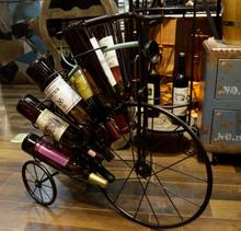 New Design Metal Home Decorative Bicycle Shape Wine Display Stand