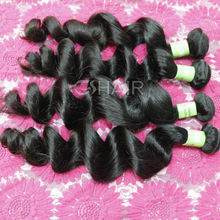 Rush delivery beauty product curly virgin brazilian hair weft loose curly
