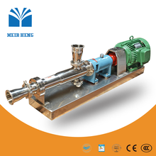 GW stainless steel thick liquid transfer single screw pump for cosmetics