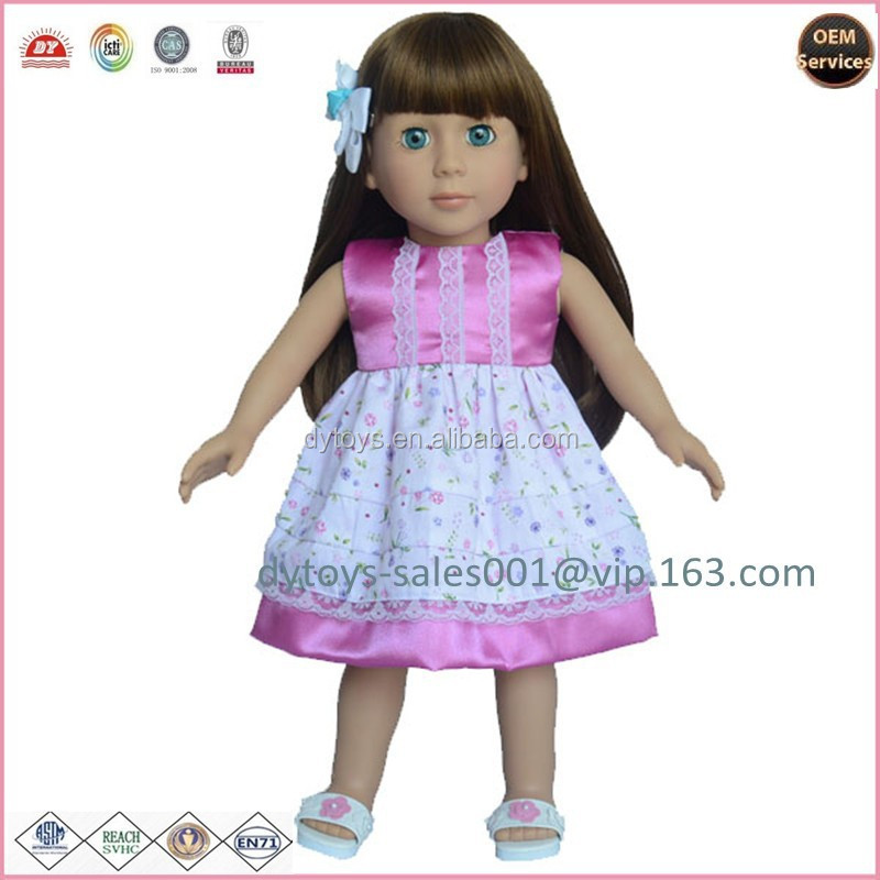 18inch vinyl dolls long hair fashion doll ICTI ,ISO ,BV certificates