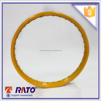 Top rated high performance yellow sport motorcycle rim