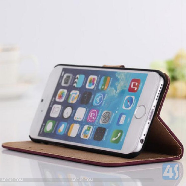 transformer real leather back stand protective case for iPhone 6 with Cheap price P-APPIPN6PUCA062