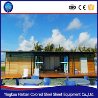 Timber frame house cabins prefabricated wooden bungalow house mobile light portable tourist portable home