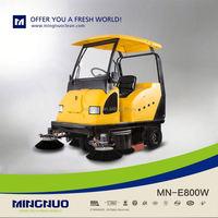 huge tank ride on vacuum street sweeper electric wet floor cleaner