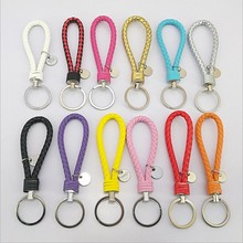 Yongze Custom Color Key chain Leather braided leather keyychains Rope Fit bag Pendant Key Chains Holder Car Keychains