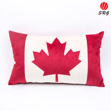 home sofa use back support pillow Canada maple leaf applique embroidery cushion covers decorative