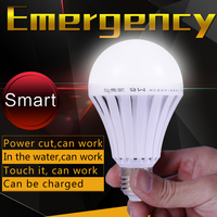 165-265V 5W 7W 9W 12W Rechargeable Lamp Led Emergency Lighting E27 LED Smart Light With Battery Emergency Intelligent Bulb