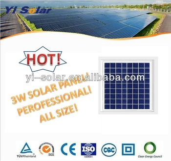 Hot Sale! 3w Solar Panel! All Size Avaliable! 6-12V!