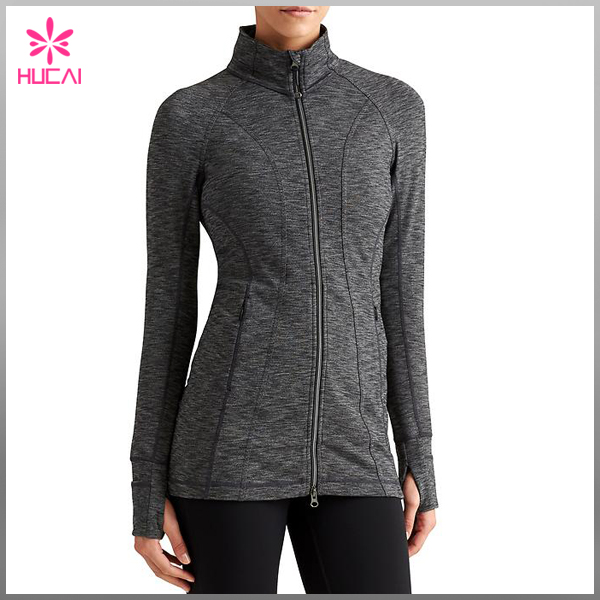 Dry Fit workout apparel compression light women jacket,Trendy women clothing fitness 2016