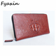 Wholesale Cheap Crocodile Leather Men's Wallet and Hand Purse for Men