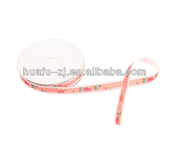 2018 Factory New Coming Design Colorful Hot Stamping Satin Ribbon