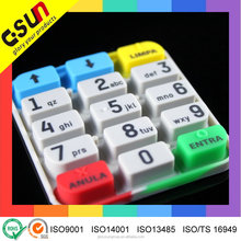 Good touch feeling Custom conductive carbon pill silicone keypad