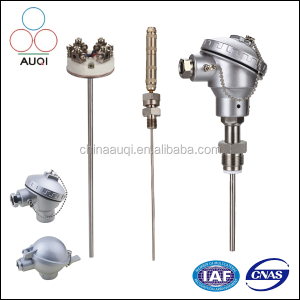 Pt100 RTD Temperature Sensor , K/T/N/E/R/S/B Industrial Assembled Thermocouple