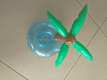 Professional Factory Custom Plastic Inflatable Palm Tree Floating Drink Holder