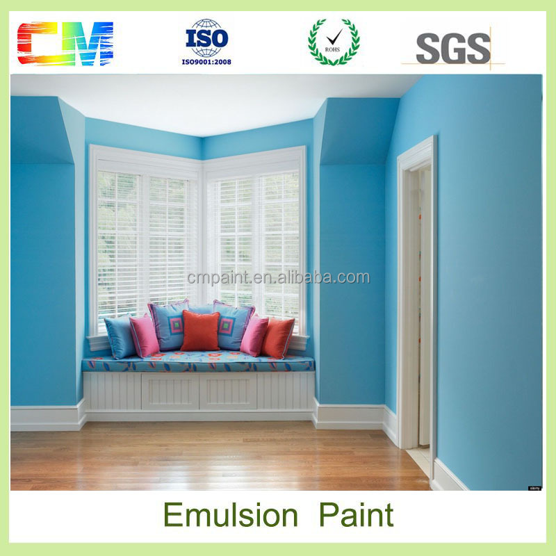 Building materials liquid spray tractor emulsion paint price for interior wall coating