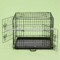 36inch DOG CAGES PUPPY CRATE LARGE BLACK CAT FOLDING METAL CAGE