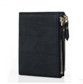 Short men wallet hot sell fashion double zipper PU wallet