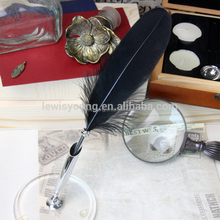 Creative stationary student's gift pen, cute feather quill pen