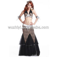 Cheap hot selling Belly Dance tribal waers set, sexy leopard tribal belly dance costumes suit (QC1506)