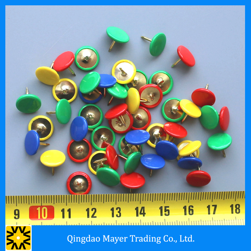 Customized Colorful Round Shaped Decorative Office Push Pins