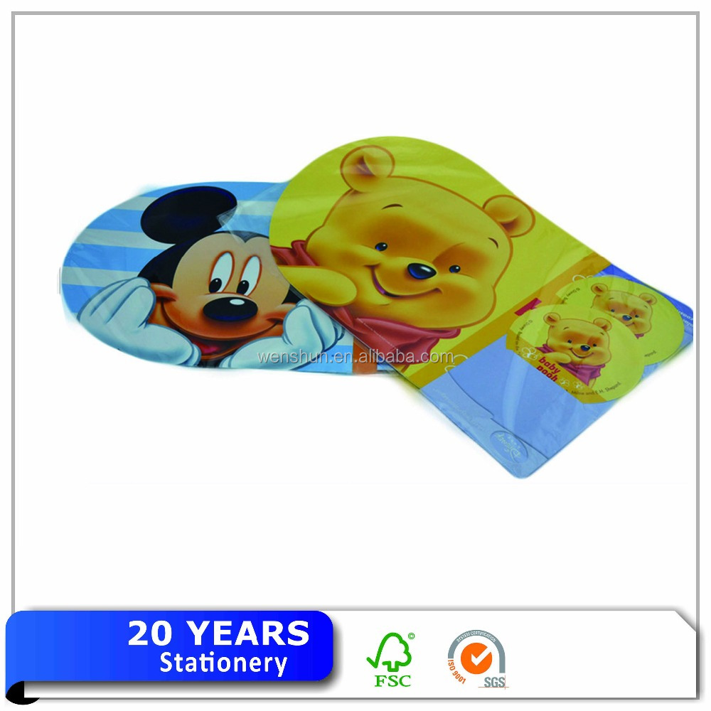 Customized Plastic PP Material Laser Cut Placemat For Kids