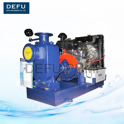 Self-priming single-stage centrifugal non-clogging diesel engine Sewage water Pump in pumps with trailer
