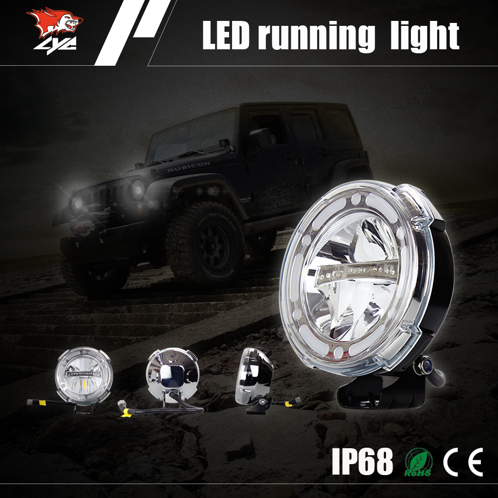 auto spare parts car 7inches led running lights high/low beam 40w led work light jeep 4wd