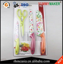 Top quality flower printing knife set from china
